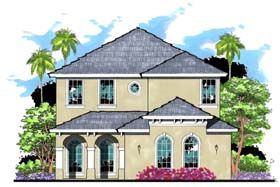 House Plan 66875 | Florida Mediterranean Traditional Style Plan with 2611 Sq Ft, 4 Bedrooms, 4 Bathrooms, 2 Car Garage Elevation