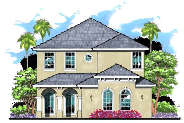 Florida Mediterranean Traditional House Plan 66875 Elevation