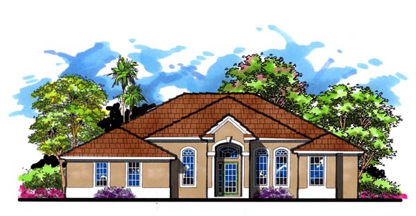 Florida Ranch Traditional House Plan 66876 Elevation