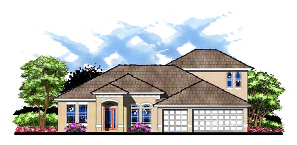 Florida Traditional House Plan 66881 Elevation