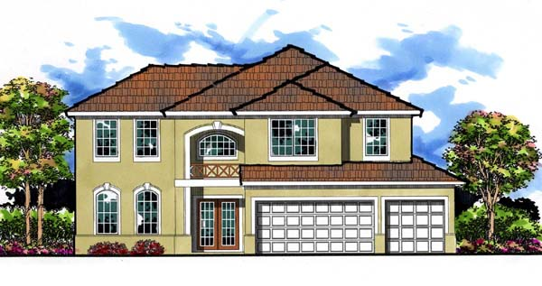 Florida Traditional House Plan 66882 Elevation