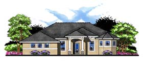 Craftsman , Florida , Ranch , Traditional House Plan 66884 with 4 Beds, 3 Baths, 3 Car Garage Elevation