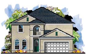 Colonial Florida Traditional House Plan 66885 Elevation
