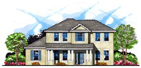 House Plan 66887 | Colonial Florida Traditional Style Plan with 2935 Sq Ft, 4 Bedrooms, 3 Bathrooms Elevation