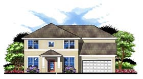 House Plan 66890 | Colonial Florida Traditional Style Plan with 3067 Sq Ft, 5 Bedrooms, 3 Bathrooms, 2 Car Garage Elevation