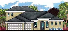 Contemporary Florida Ranch House Plan 66891 Elevation