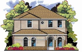 Florida Mediterranean House Plan 66893 Elevation