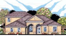 Contemporary , Florida , Ranch , Traditional House Plan 66895 with 4 Beds, 3 Baths, 3 Car Garage Elevation
