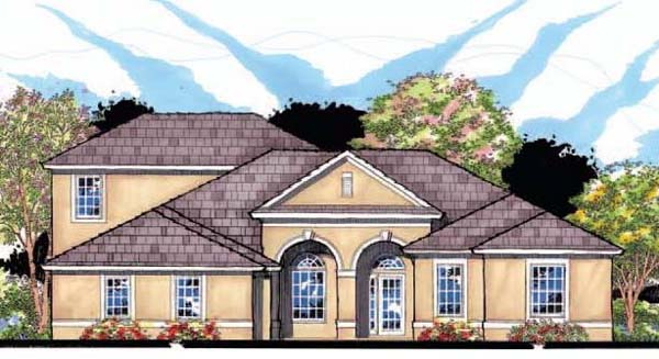 Contemporary Florida Ranch Traditional House Plan 66895 Elevation
