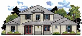 House Plan 66896 | Craftsman Florida Traditional Style Plan with 3429 Sq Ft, 4 Bedrooms, 4 Bathrooms, 3 Car Garage Elevation