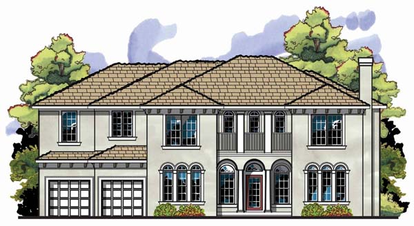 Florida , Mediterranean , Traditional House Plan 66899 with 5 Beds, 5 Baths, 3 Car Garage Elevation