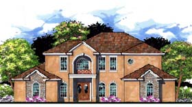 House Plan 66901 | Contemporary Florida Mediterranean Traditional Style Plan with 3686 Sq Ft, 4 Bedrooms, 4 Bathrooms, 3 Car Garage Elevation
