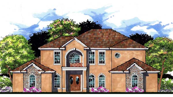 Contemporary Florida Mediterranean Traditional House Plan 66901 Elevation
