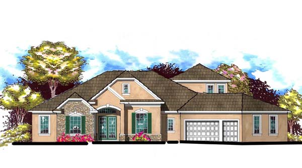 Florida Traditional House Plan 66902 Elevation