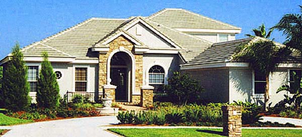Contemporary Florida Mediterranean Traditional House Plan 66903 Elevation