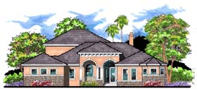 Contemporary Florida Traditional House Plan 66904 Elevation