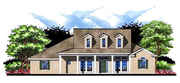 Country Farmhouse Florida Ranch House Plan 66905 Elevation