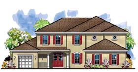 Florida Traditional House Plan 66906 Elevation