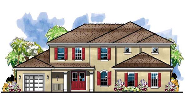 Florida , Traditional House Plan 66906 with 4 Beds, 4 Baths, 3 Car Garage Elevation
