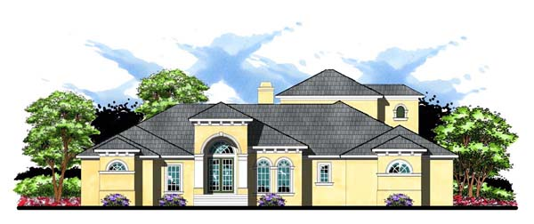 Contemporary Florida Mediterranean House Plan 66909 Elevation