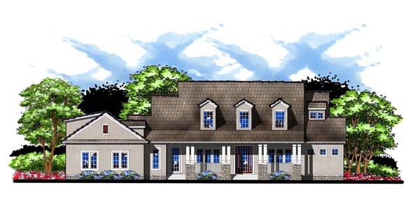 Craftsman , Florida , Southern , Traditional House Plan 66910 with 5 Beds, 4 Baths, 3 Car Garage Elevation