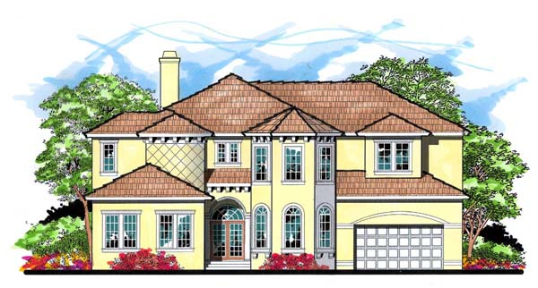 Florida Mediterranean Traditional House Plan 66911 Elevation