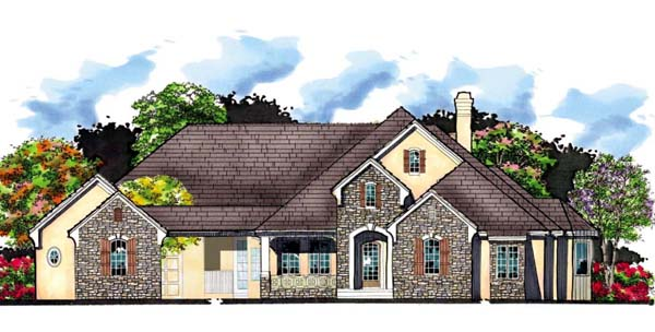 House Plan 66912 | European Florida Mediterranean Traditional Style Plan with 4575 Sq Ft, 5 Bedrooms, 5 Bathrooms, 4 Car Garage Elevation