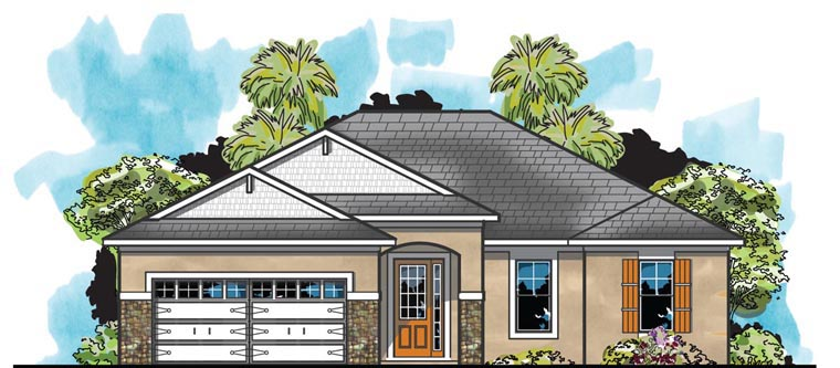 Traditional House Plan 66918 Elevation