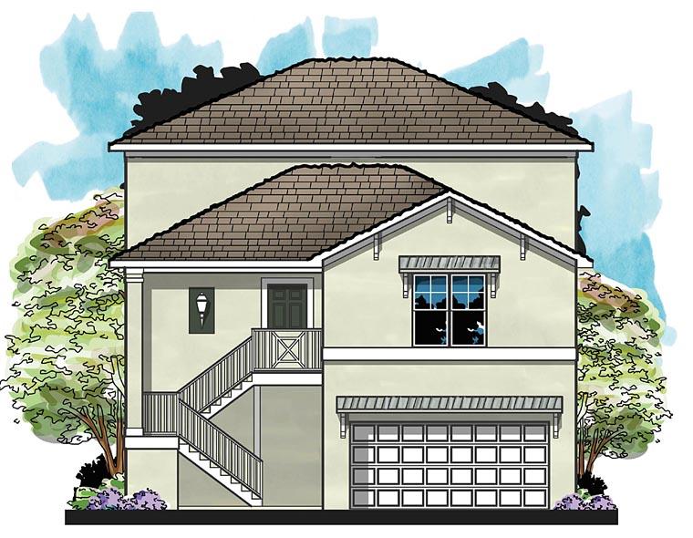 Coastal Florida House Plan 66925 Elevation