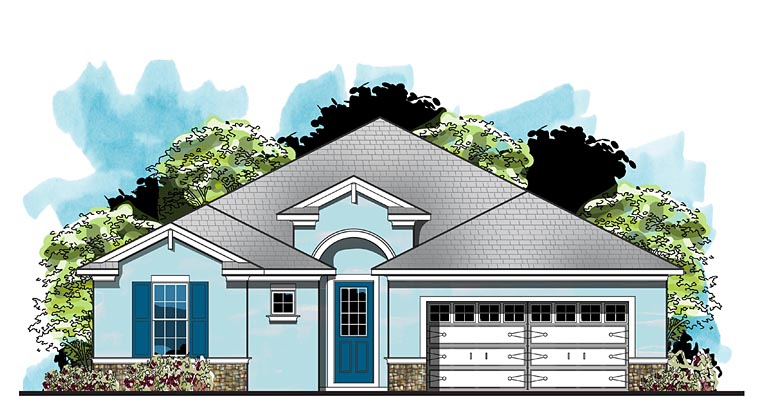 Florida House Plan 66926 Elevation