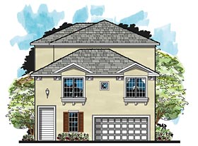 Coastal Florida House Plan 66927 Elevation