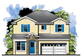 Florida House Plan 66928 Elevation