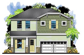 Colonial Cottage Craftsman Florida House Plan 66929 Elevation