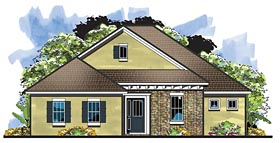 House Plan 66930   Craftsman Florida Style Plan with 2363 Sq Ft, 4 Bedrooms, 3 Bathrooms, 2 Car Garage Elevation