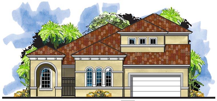 Florida Mediterranean House Plan 66939 Elevation