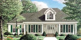 Colonial Southern House Plan 67000 Elevation