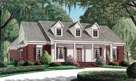 Cape Cod House Plan 67002 with 3 Beds, 2 Baths, 2 Car Garage Elevation