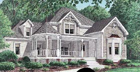 Country Southern Victorian House Plan 67003 Elevation