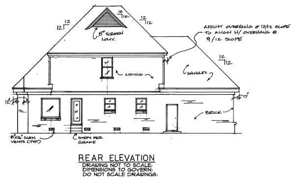 Country Southern Victorian House Plan 67003 Rear Elevation