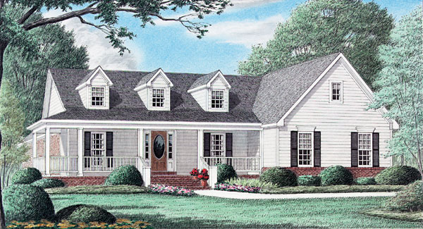 Country Southern House Plan 67004 Elevation