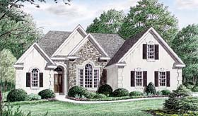 European Traditional House Plan 67013 Elevation