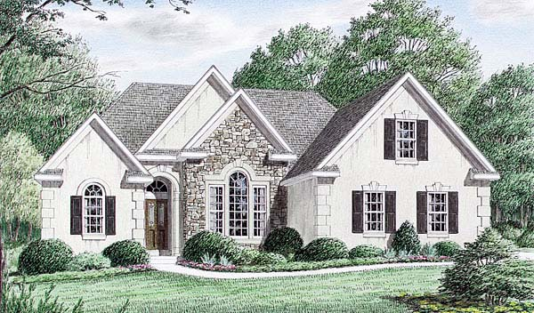 European Traditional House Plan 67013 Elevation