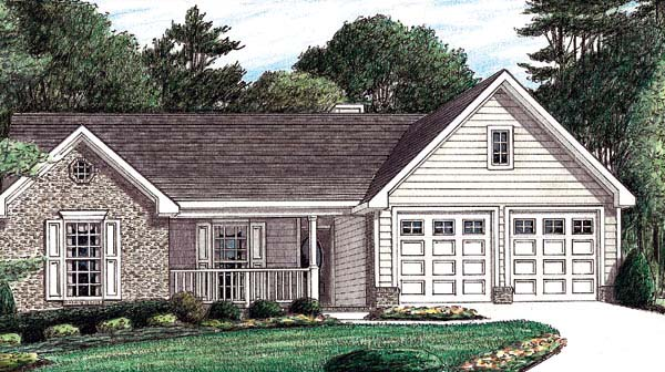 Traditional House Plan 67021 Elevation