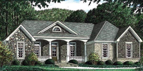 Bungalow Traditional House Plan 67022 Elevation