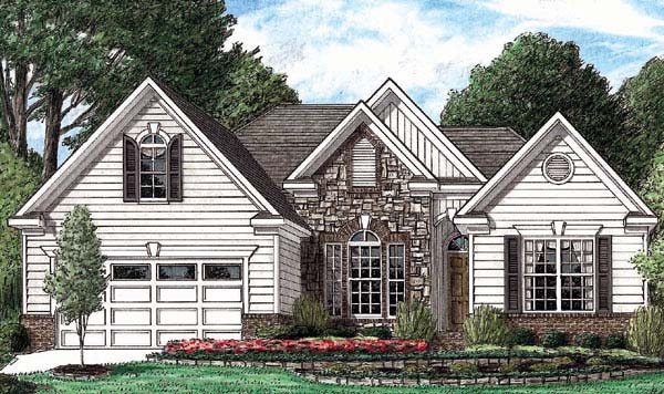 Traditional House Plan 67023 Elevation