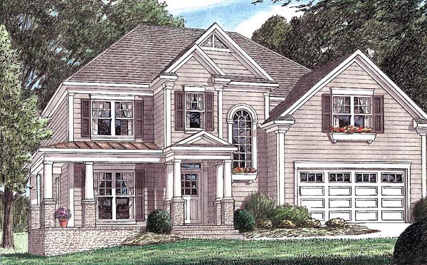 Colonial Southern House Plan 67024 Elevation