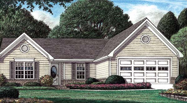 Traditional House Plan 67025 Elevation