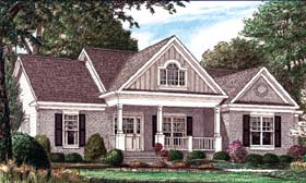 Country , Traditional House Plan 67026 with 3 Beds, 2 Baths, 2 Car Garage Elevation