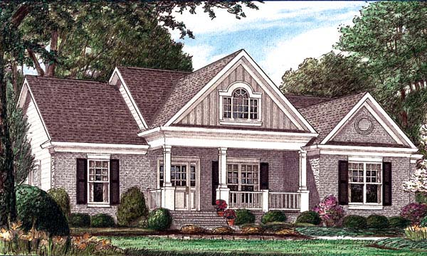 Country Traditional House Plan 67026 Elevation