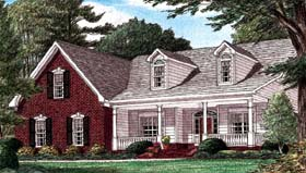 Country Southern House Plan 67028 Elevation
